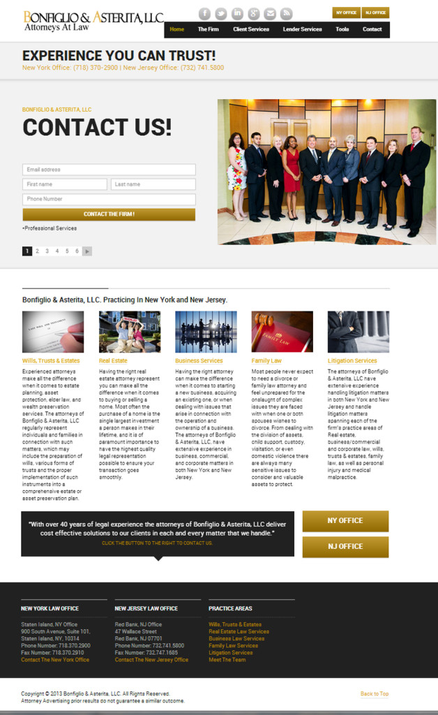 Lawyer, Website Design, Social Media and SEO Services